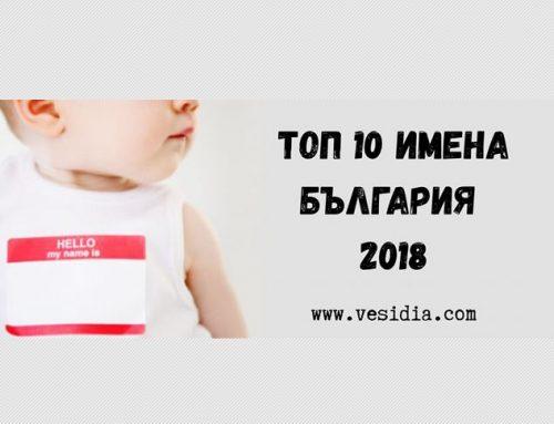 Кои са най-предпочитаните имена в България през 2018г ?